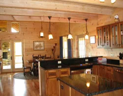 Landmark Log Homes Kitchen Images